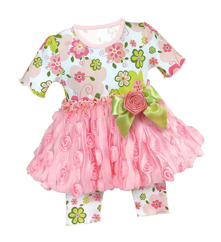 Stephan Baby Funky Pop Floral Dress Set