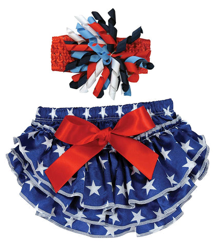 Stephan Baby First Patriotic Diaper Cover and Headband
