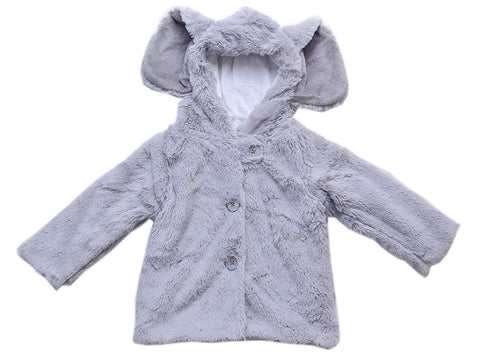 Mud Pie Grey Safari Elephant Winter Jacket