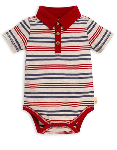 Burt's Bees Short Sleeve Snap Bodysuit One piece Polo