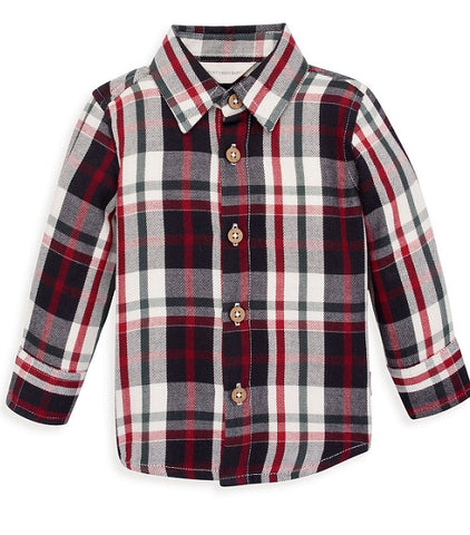 Burt's Bees Holiday Plaid Shirt