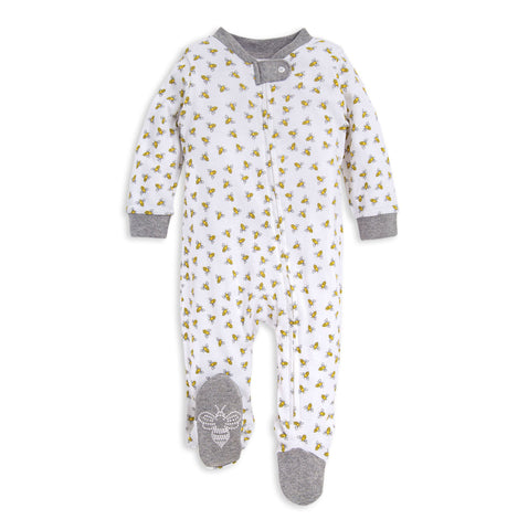 Burt's Bees Boys and Girls Sleep and Play Footed Loose Fit Rompers