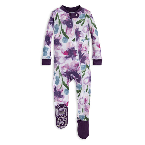 Burt's Bees Girls Footed PJ's
