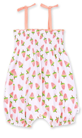 Burt's Bees Girls Watermelon Popsicle Bubble Romper