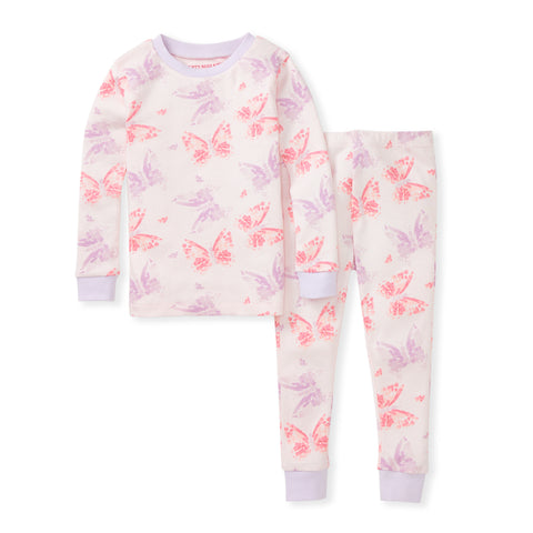 Burt's Bees Girls Long Sleeve PJ Sets - Non Footed Pajamas PJs