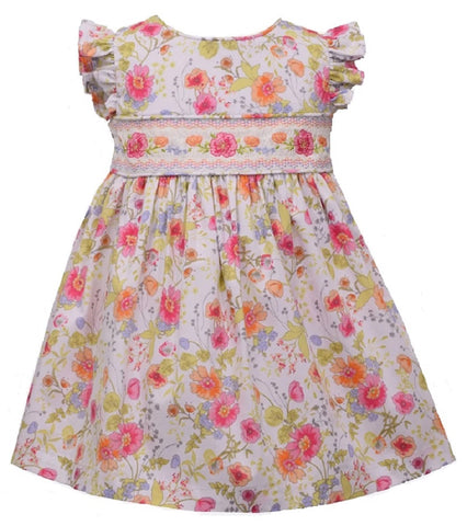 Bonnie Jean Spring Summer Floral Smocked Dress