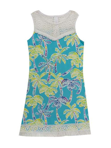 Counting Daisies Tropical Palm Tree Sundress