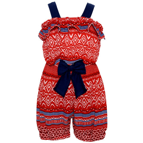 Counting Daisies Patriotic Chiffon Bubble Romper