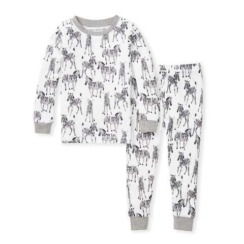 Burt's Bees Boys Long Sleeve PJ Sets - Non Footed Pajamas PJs