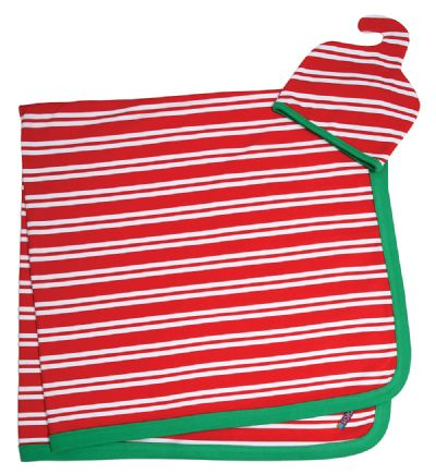 Sozo First Christmas Peppermint Baby Swaddle Blanket and Cap