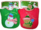 Baby Christmas Bibs and Wrist Rattle