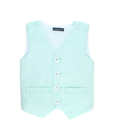 Rugged Butts Spring Easter Mint Seersucker Vest and Bow Tie