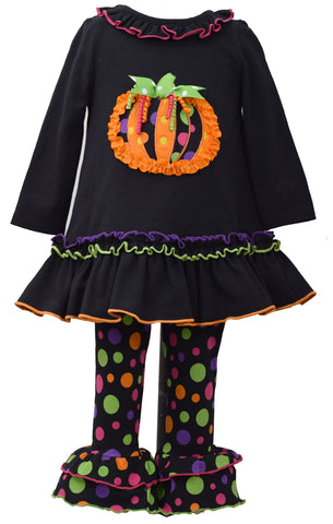 Bonnie Jean Colorful Polka Dot Halloween Pumpkin Set