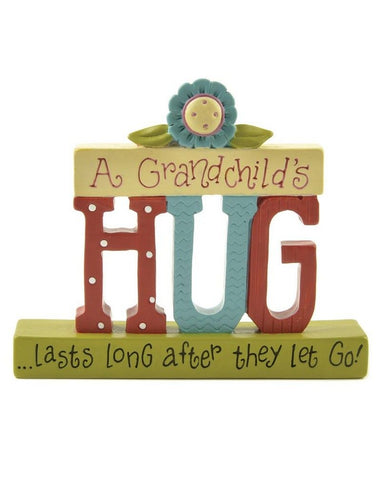 Blossom Bucket - A Grandchild's Hug Plaque