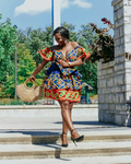 MARTHY LAYERED AFRICAN PRINT KENTE SKIRT