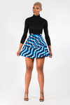 ADEY FLARED AFRICAN PRINT KENTE MINI SKIRT