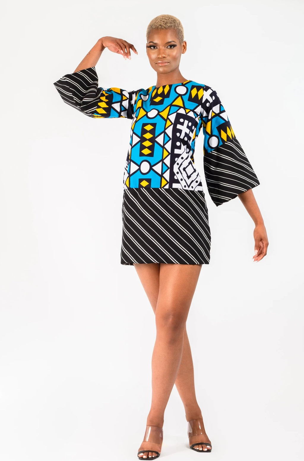 ANITA (MIXED PRINT) SAMAKAKA DRESS