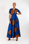 ANU AFRICAN PRINT ANKARA MAXI WRAP DRESS