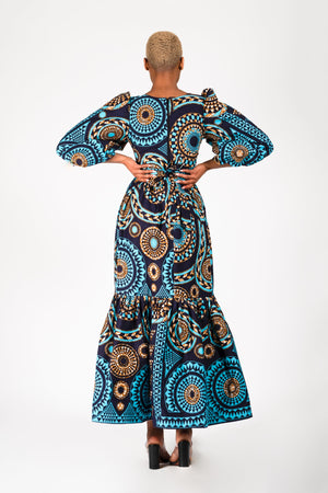 MIDE AFRICAN PRINT MAXI DRESS