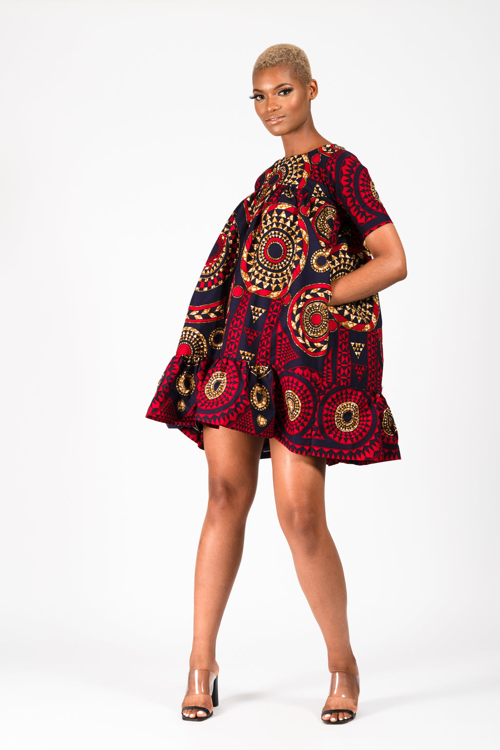 ABBIE AFRICAN PRINT ANKARA UMBRELLA (2-IN-1) DRESS