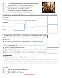 Teaching resources for Jackpot by Nic Stone classroom materials chapter questions for jackpot novel summary graphic organizers