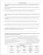 Transitional Words Worksheets (3 page): Great for Sentence Fluency