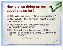Teaching Introduction Paragraphs
