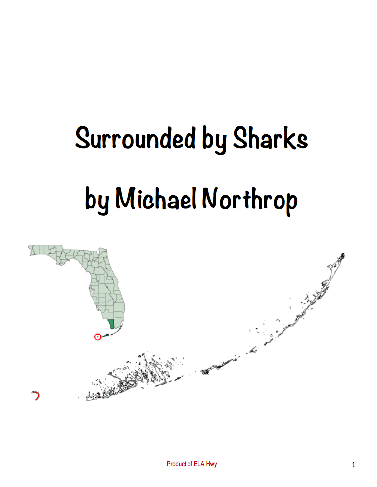 Surrounded by Sharks by Michael Northrop: Workbook with