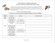 Transitional Words Workbook