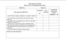 Peer Editing Checklist for Writing: Six Traits Based