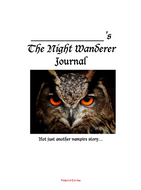 The Night Wanderer by Drew Hayden Taylor: Dual Entry Reading Journal Cover