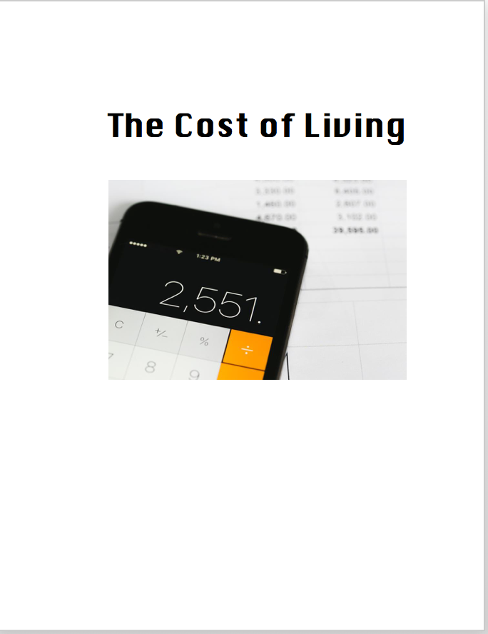 Cost of Living Activities Pack: Budgeting/Life Skills