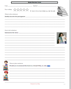Book review form for any book