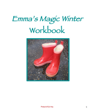 Emma's Magic Winter by Jean Little: Reading Comprehension Workbook cover page with boots