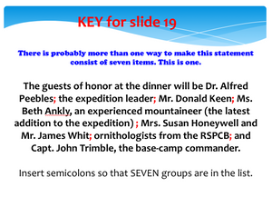 Semicolon Usage Presentation: comma splices addressed, many examples