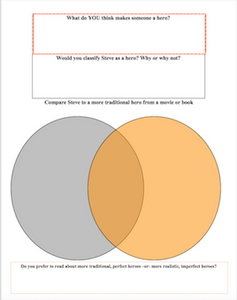 Monster by Walter Dean Myers: Graphic Organizer for Protagonist