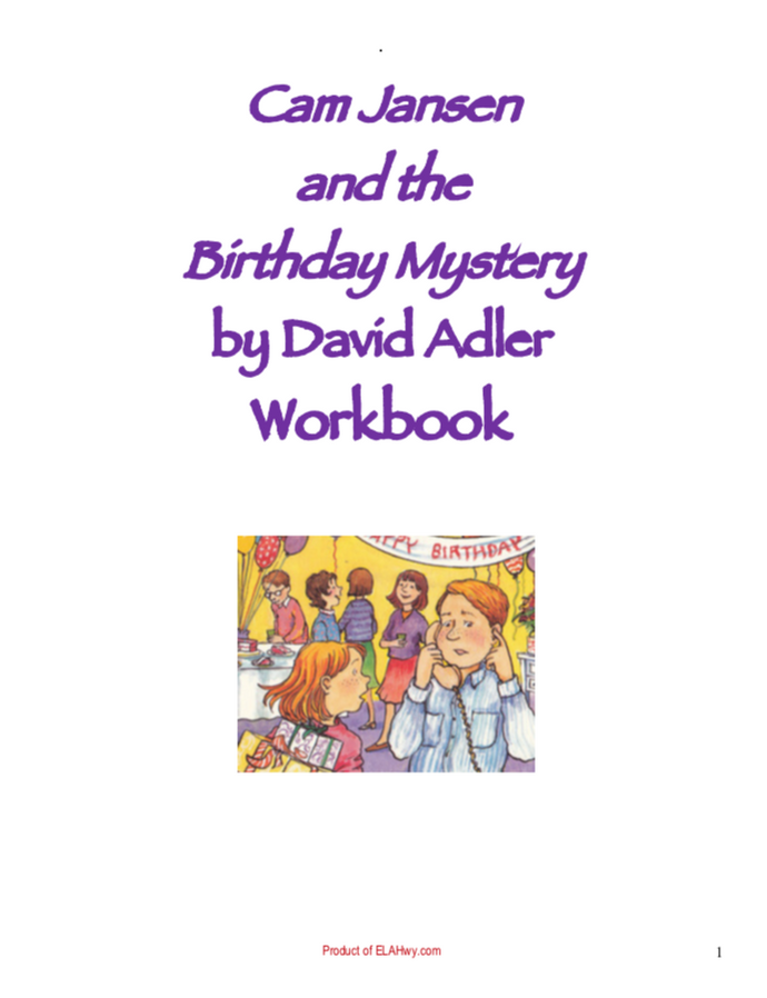 Cam Jansen and the Birthday Mystery chapter questions