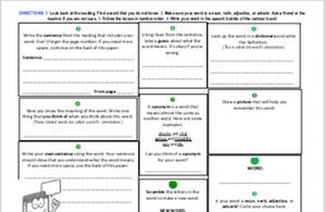 Vocabulary: Graphic Organizer/Word Study