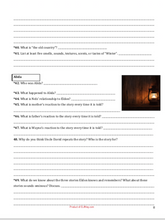 The Winter Room by Paulsen Chapter Questions: Novel Workbook