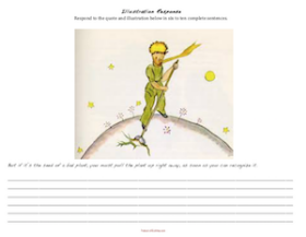 The Little Prince by Antoine de Saint-Exupéry: Response to Illustration-Baobabs