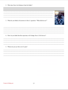 Monster by Walter Dean Myers: Novel Workbook, Chapter Questions