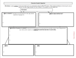 Character Graphic Organizer, reading graphic organizer