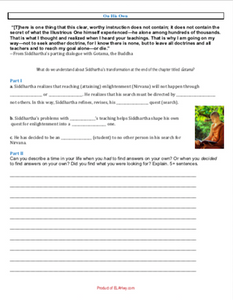 Siddhartha Writing Activity: For Chapter Gotama