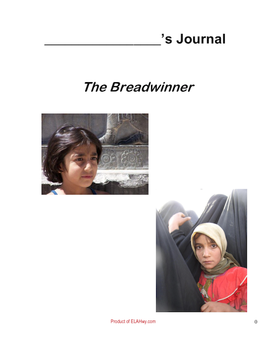 The Breadwinner by Deborah Ellis: Reading Journal