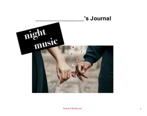 Night Music Reading Journal Cover page