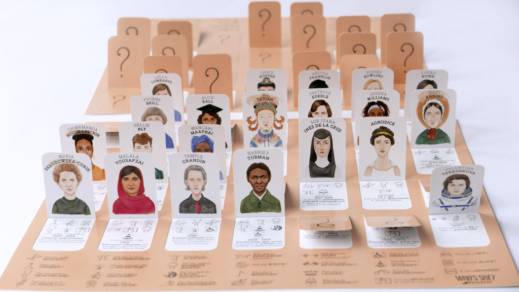 "Cardboard ""Who's She?"" game"