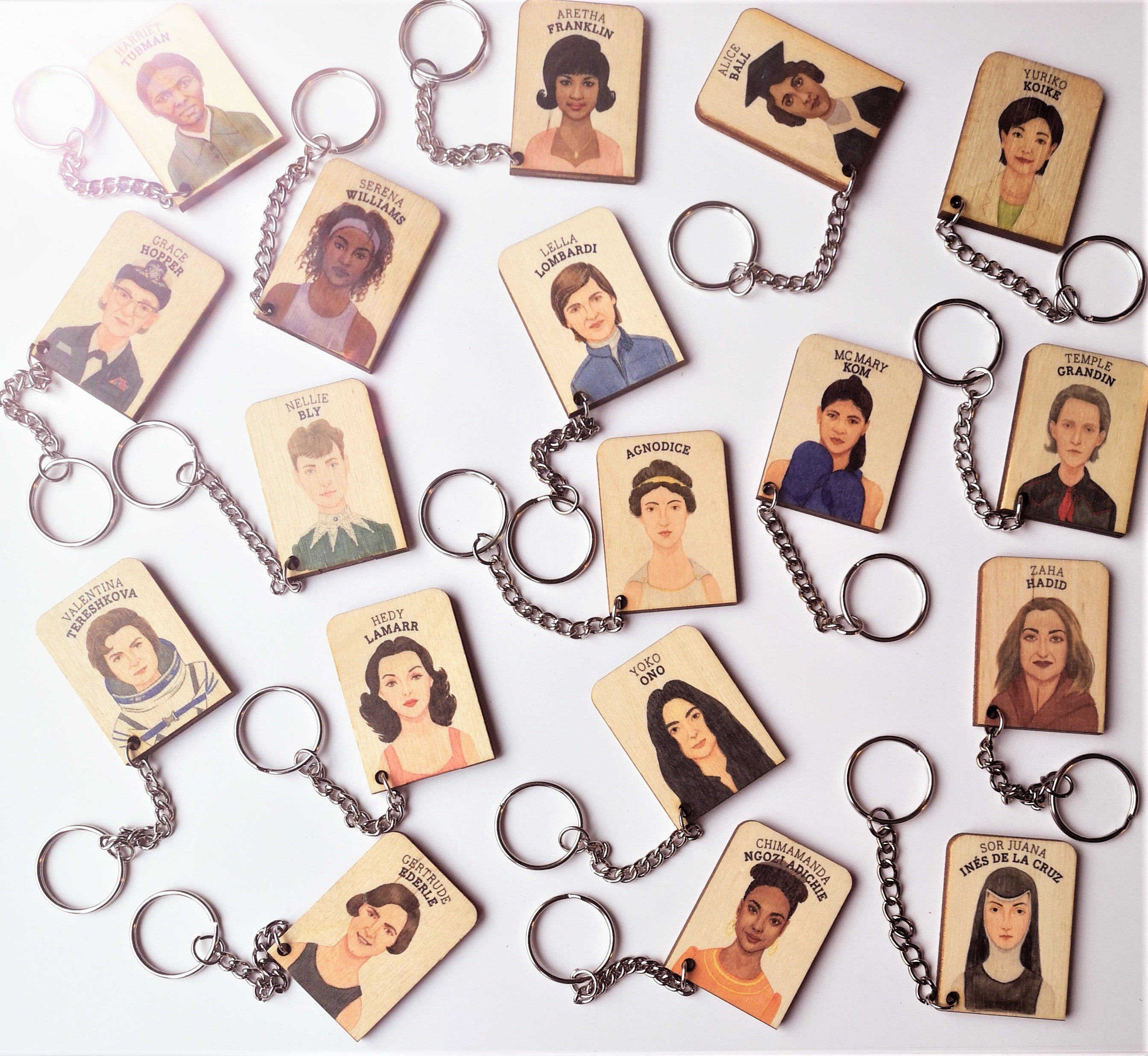 Who's She key-chain