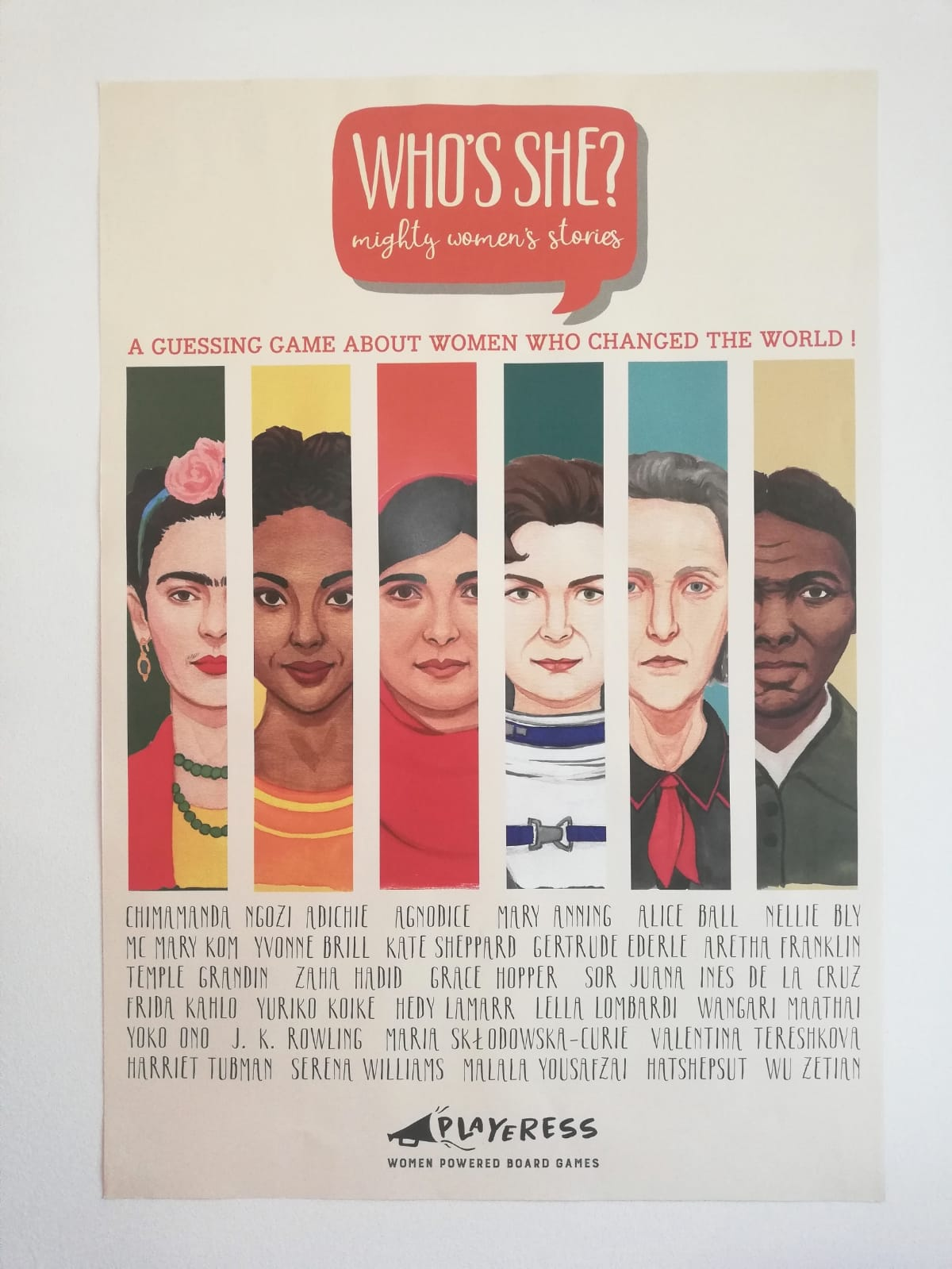 """Who's She?"" Wall Poster"