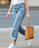 Curvedgirl Loose Large Size Denim Straight Pants