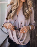 Curvedgirl Buttones Chiffon Purple Shirts